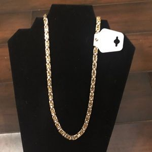 Stainless steel two toned chain. New.